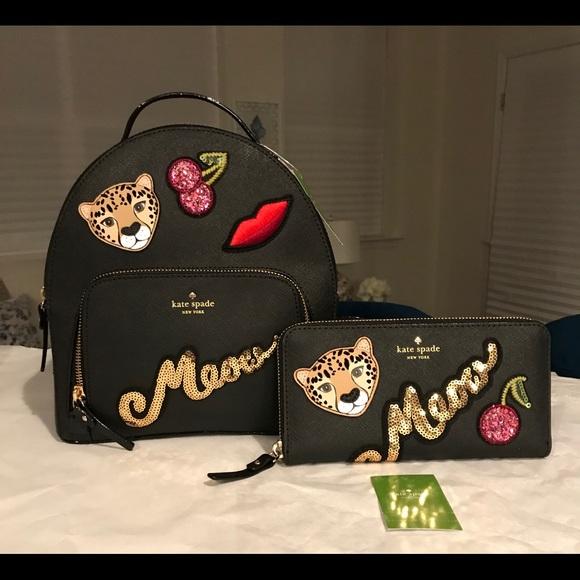 kate spade Handbags - 🎉HP✨SALE✨Kate Spade NWT Leather Tomi Backpack Set